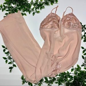 Victoria's Secret Dusty Pink Lingerie (L)